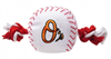 BALTIMORE ORIOLES DOG TOY – NYLON W/ROPE