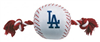 LOS ANGELES DODGERS NYLON DOG TOY