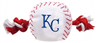 KANSAS CITY ROYALS BASEBALL TOY – NYLON W/ROPE