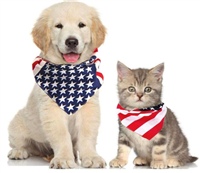 Orgrimmar 2 PCS Dog Bandanas Bibs Scarfs Washable Cat Pet Collar Large American Flag Bandana Large Medium Small Puppy Kerchief for 4th of July Independence Day Dog Neck Bandana Summer