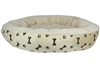 Paw Prints Bed - Khaki