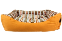 Canvas Striped Bed - Orange