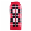 Worthy Dog Oxford Plaid Dog Sweater - Red