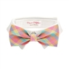 Riley Dog Shirt Collar and Bow Tie - Pastel Plaid
