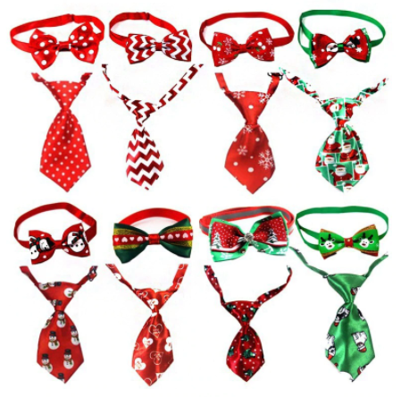 Christmas hoiliday pet collars/ties