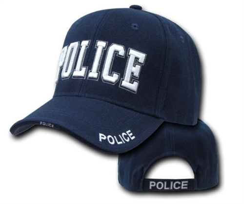 971e7de8f30e2 Deluxe Navy Blue Police Low Profile Baseball Cap Larger Photo ...