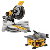 DeWalt Miter Saw and Table Saw Package (DWS780 + DCS7485T1)