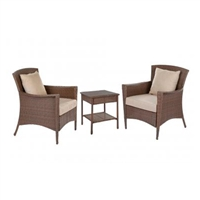 Panoramic Collection Outdoor Garden Patio Furniture 3PC set w/ Table