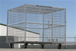 Steel Exotic Animal Transport Cage with Sliding Door
