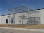 12'W x 24'D x 10'H Exotic Animal Enclosure with Front & Rear Entry & Center Shift Gate