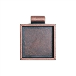 Square Bezel - Antique Copper