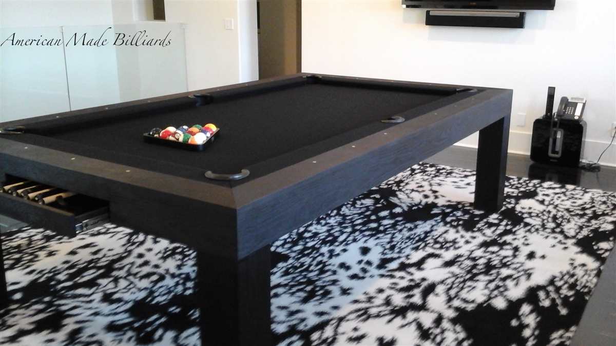 Modern Pool Table, Ash Black