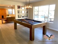 Modern Walnut Pool Table, Van Gogh