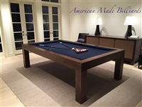 Modern Pool Table, Natural Walnut