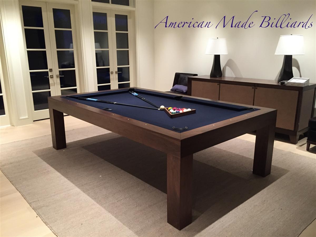 Modern Pool Table Natural Walnut