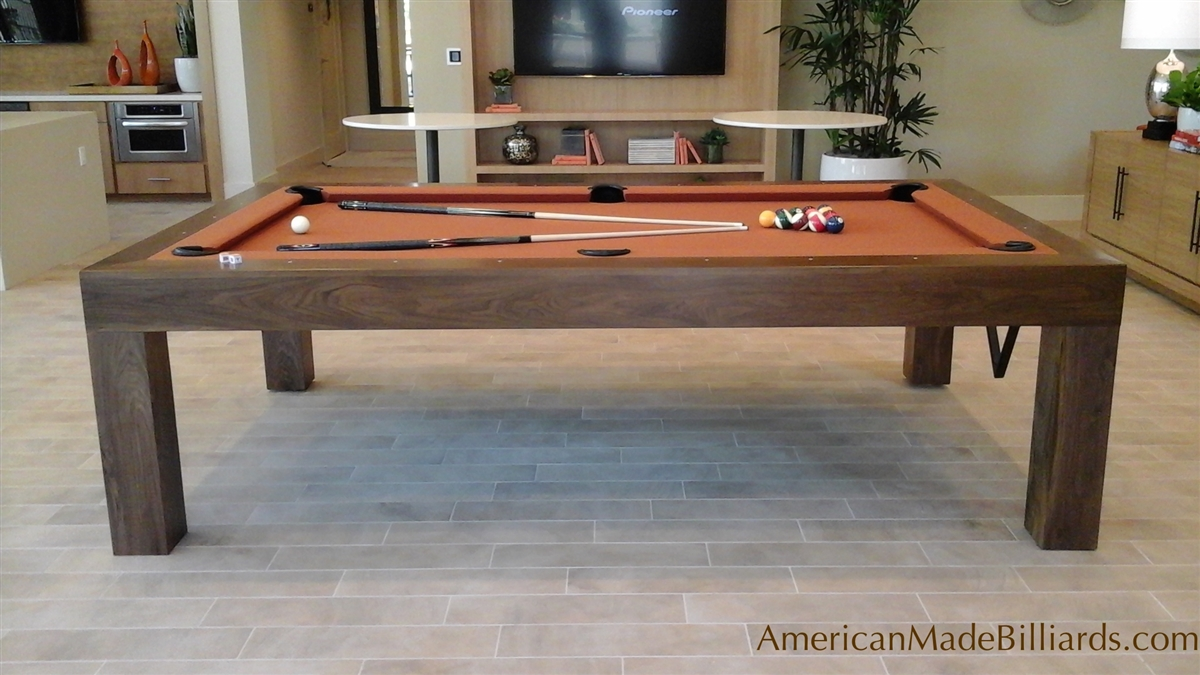 Modern Pool Tables Natural Walnut