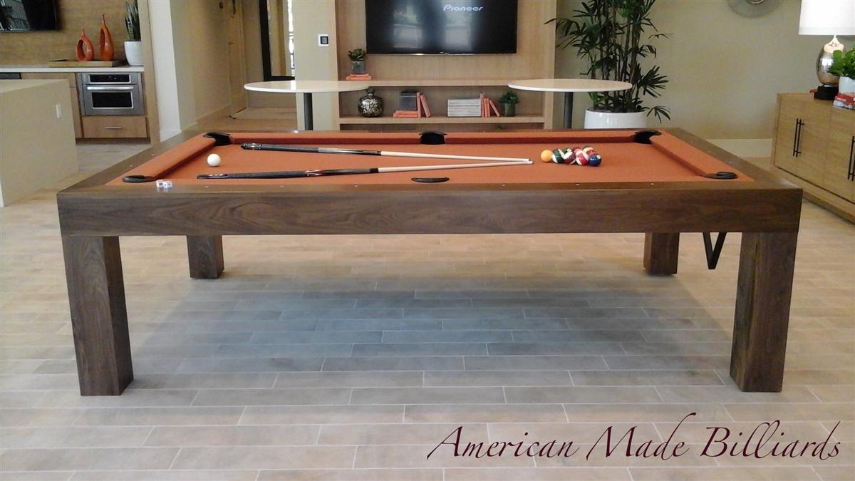 Modern Pool Tables Natural Walnut