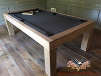Modern Pool Tables, Raw Walnut
