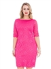 Cerise Lace Dress