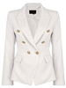Ivory Button Blazer