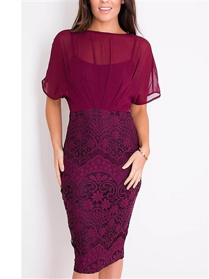Batwing Lace Dress