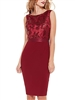 Wine Sequin Dress