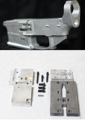 White 80% MULTI-CAL Billet Lower Receiver / Jig Kit Combo