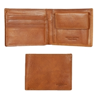 Cuoieria Fiorentina CFM401 Italian Leather Wallet - Brown