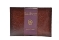 Cuoieria Fiorentina Leather Passport Wallet - Brown