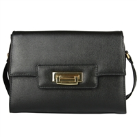Cuoieria Fiorentina Isla Leather Shoulder Bag - Black