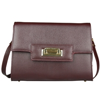 Cuoieria Fiorentina Isla Leather Shoulder Bag - Bordeaux
