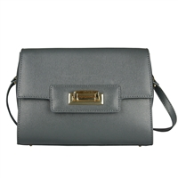 Cuoieria Fiorentina Isla Leather Shoulder Bag - Grey
