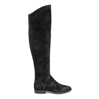 Janet & Janet J-38004 Zenith Knee-High Suede Boots - Black