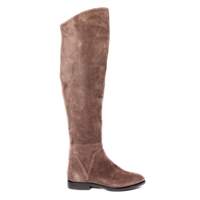 Janet & Janet J-38004 Zenith Knee-High Suede Boots - Dark Brown