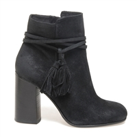 Janet & Janet J-38553 Zahra Suede Ankle Boot - Black