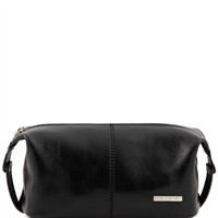 Tuscany Leather TL140349 Roxy Leather toiletry bag - Black