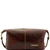 Tuscany Leather TL140349 Roxy Leather toiletry bag - Brown