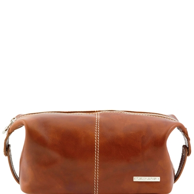 Tuscany Leather TL140349 Roxy Leather toiletry bag - Honey