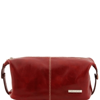 Tuscany Leather TL140349 Roxy Leather toiletry bag - Red