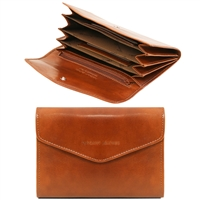TL140786 Exclusive leather wallet for women- Honey