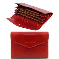 Tuscany Leather TL140786 Exclusive leather wallet for women - Red
