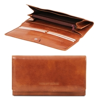 Tuscany Leather TL140787 Exclusive leather wallet for women - Honey