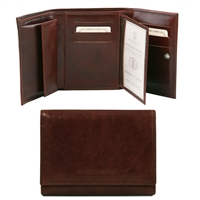 Tuscany Leather TL140790 Exclusive leather wallet for women Dark Brown
