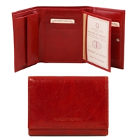 Tuscany Leather TL140790 Exclusive leather wallet for women Red