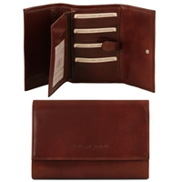 Tuscany Leather TL140796 Exclusive leather wallet for women - Brown