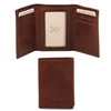 TL140801 Exclusive 3 Fold Leather Wallet for Men - Brown