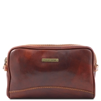 Tuscany Leather TL140850 Igor Leather Toiletry Bag Brown
