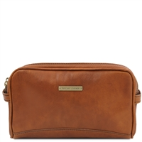 Tuscany Leather Igor Leather Toiletry Bag-  Black | Shop | Australia