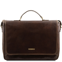 Tuscany Leather Padova Laptop Bag TL140891 - Dark Brown