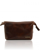 Tuscany Leather Ronny TL140979 Leather toilet bag - Brown